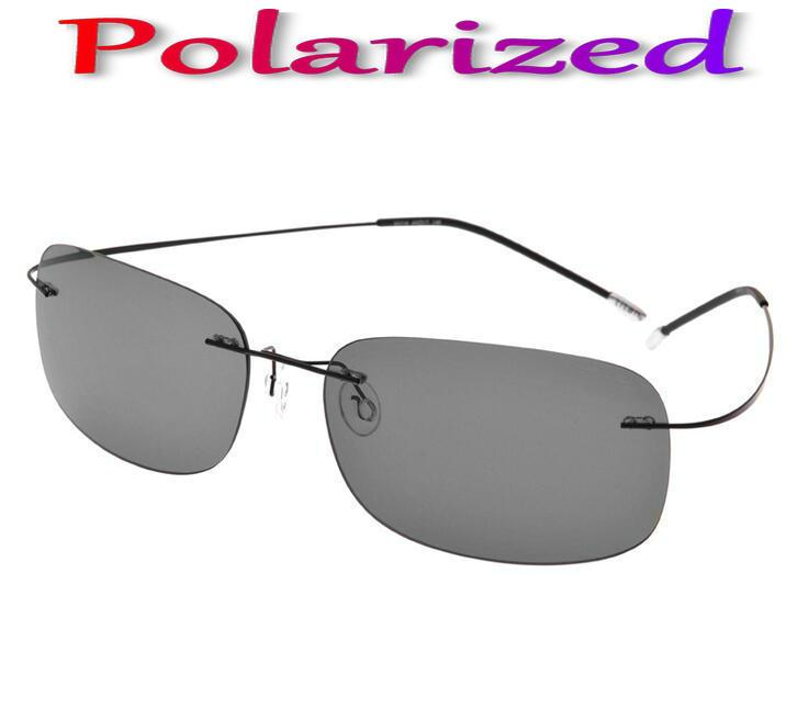 23414850b2 Wholesale- Brand Designer Aviation Eye Glasses Ultra Light Rimless Titanium  Glasses Polarized Silhouett Sunglasses Men Gafas Oculos De Sol De Sol  Oculos De ...