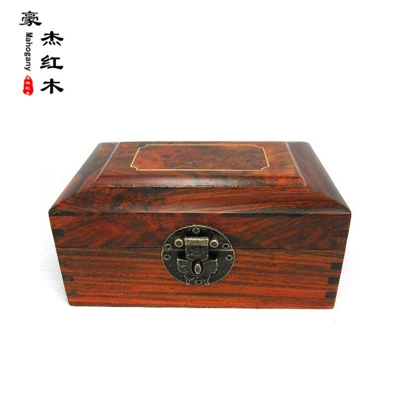 2018 Rosewood Inlay Jewelry Box Jewelry Box Clamshell Cherry