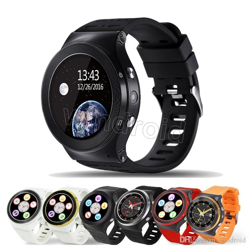 S99 Android 5.1 Smart Watch Phone 3G WCDMA MTK6580 Quad Core 8GB 1.3GHz Heart Rate 5.0M HD Camera GPS Wifi FM Bluetooth Smartwatch