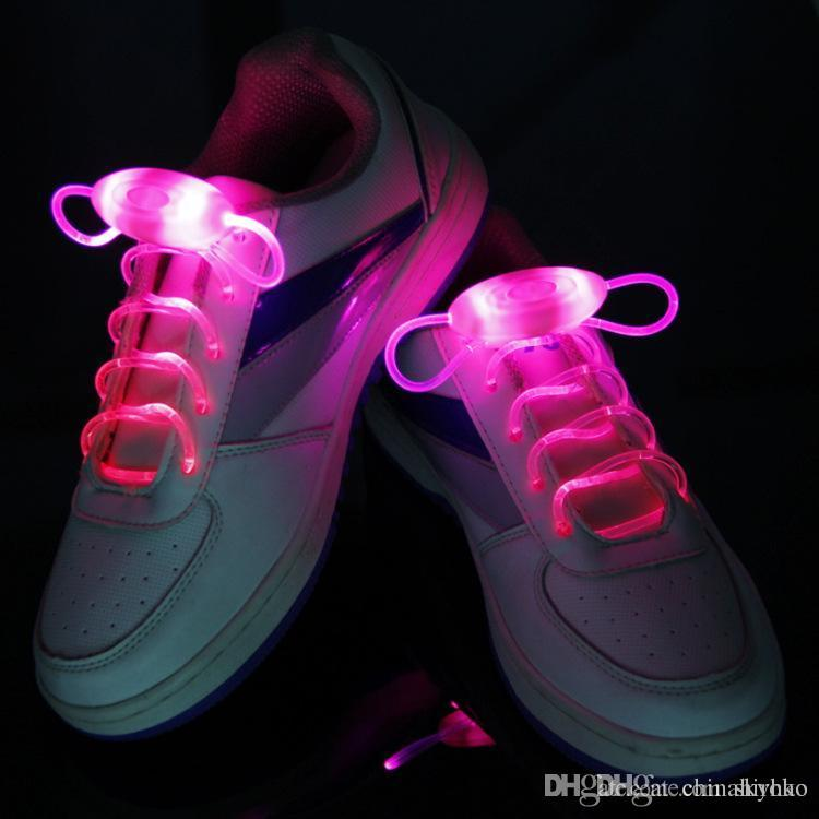 2016 New LED Shoe Flashing shoelace light up Disco Party Fun Glow Laces Shoes 3000pcs/lot=1500pairs Halloween Christmas gift Free DHL FedEx