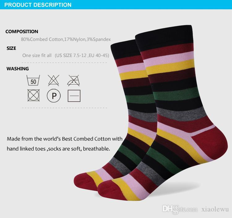 2016 nuevo estilo todos los hombres de algodón coloridos calcetines marca hombre calcetines, calcetines de los hombres, calcetín de algodón Envío Gratis 243