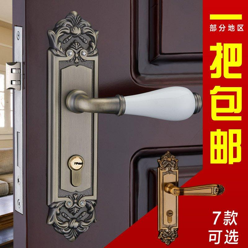 2018 The Modern Bedroom Door Lock Room Double Tongue European  Carving Classical Imitation Ceramic Handle 02 98 From Zhoudan5240