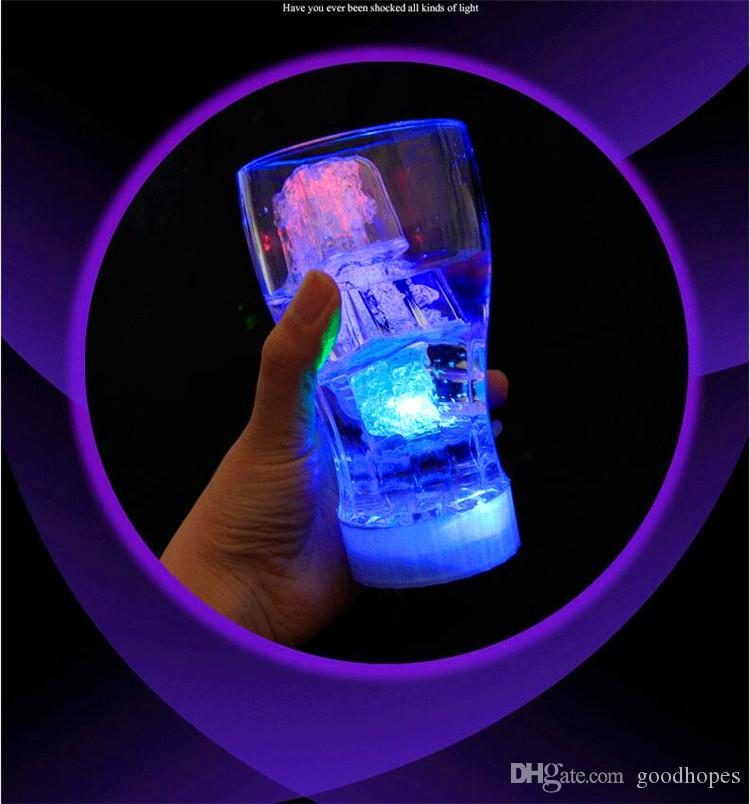 Christmas Decoration Flash Ice Cube Water Actived Flash Led Light Auto Changing Crystal Ice Cube For Christmas Party Wedding Valentine Bars