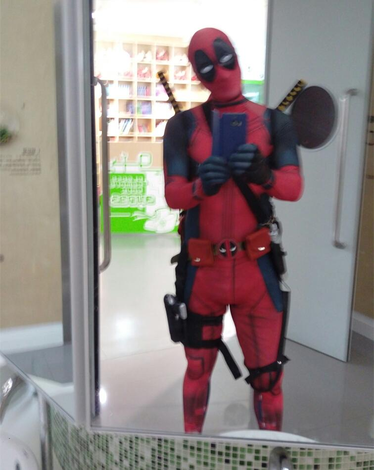 Halloween Avengers Cosplay Deadpool Costume Full Body Jumpsuit For Adults With Eye Mask Waist Bag Belt Plus Size Costumes Witch Costume From Ayumi_89 ... & Halloween Avengers Cosplay Deadpool Costume Full Body Jumpsuit For ...
