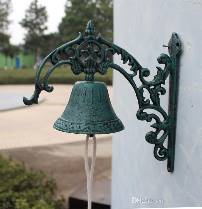 Acheter Fonte Bienvenue Dîner Bell Mur Monté Bell Métal Artisanat