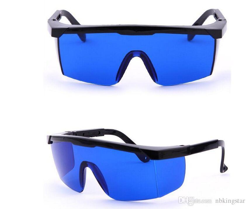 نظارات السلامة الصناعية الزرقاء قابل للتعديل الإطار الأحمر الأسنان واقية المضادة للليزر نظارات ملون الهواء صامد للريح نظارات السلامة للرذاذ