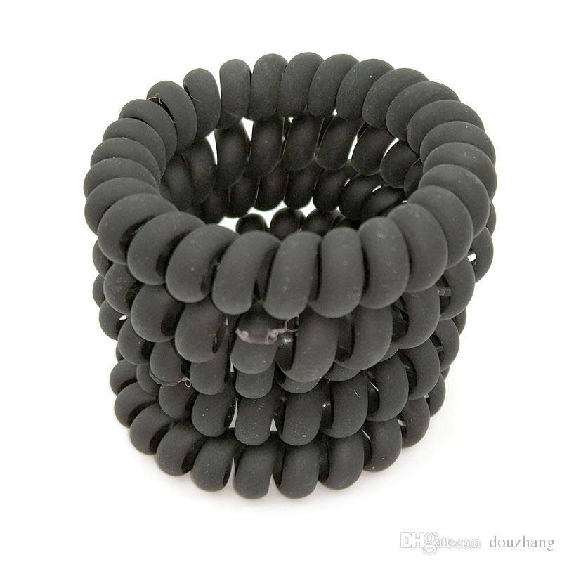 Много 100 шт. размер 5.5 см резинка для волос аксессуары кольцо веревка лента для волос эластичные ленты для волос Для женщин телефонный провод резинка для волос