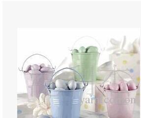 تفضل حلوى / حلوى صغيرة دلاء القصدير ، حزمة هدية حلوى القصدير ، ميني دلو عرس / حزب الحسنات