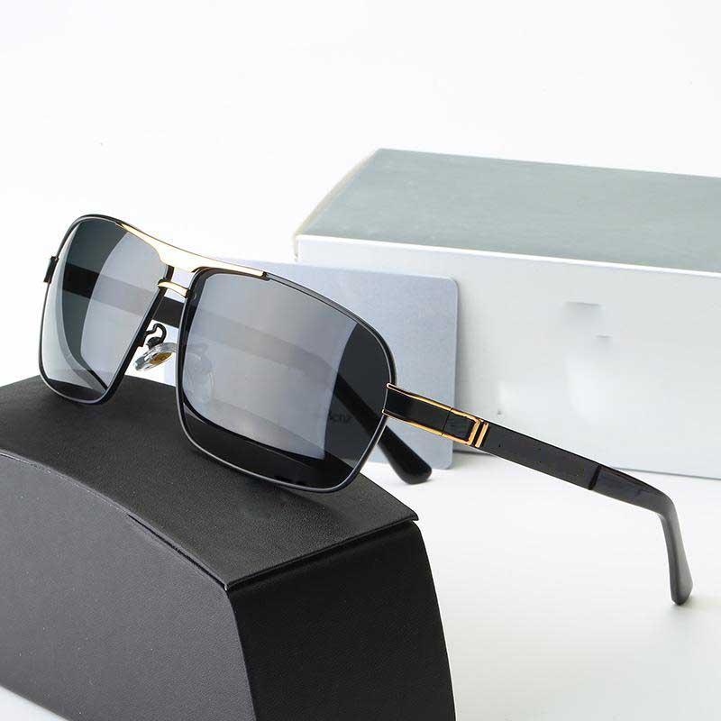 ef003ba241daa Compre Nova Marca Designer Óculos De Sol Com Grande Armação De Metal Moda  Marcas De Luxo Polarizada Óculos De Sol Para A Condução Raios Uv400 Óculos  De Sol ...