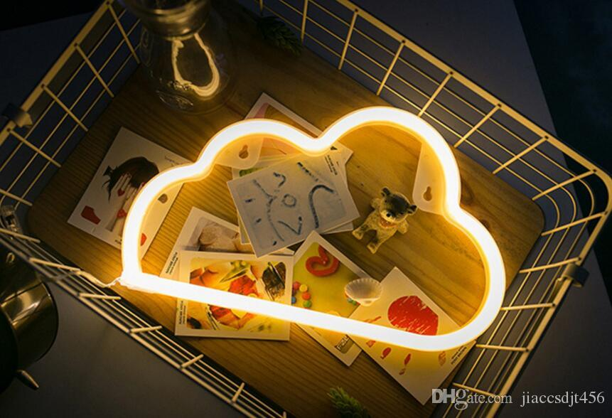 New arrival Clouds shape led neon light room decoration led creative modeling lights battery series