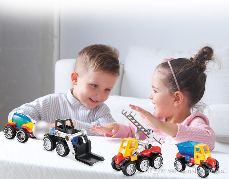 Beiens 39 unids Diseñador Magnético Set de Construcción Modelo de Construcción de Juguete de Plástico Bloques Magnéticos Juguetes Educativos Para Niños Regalo