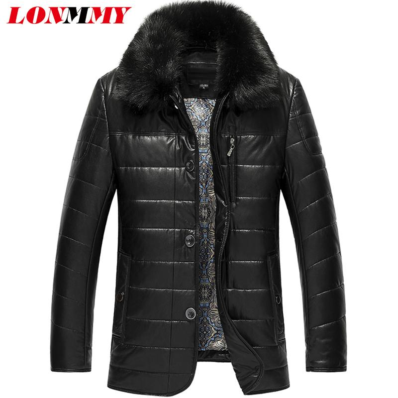 2017 Lonmmy 6xl 7xl 8xl Long Leather Trench Coat Men Jackets ...