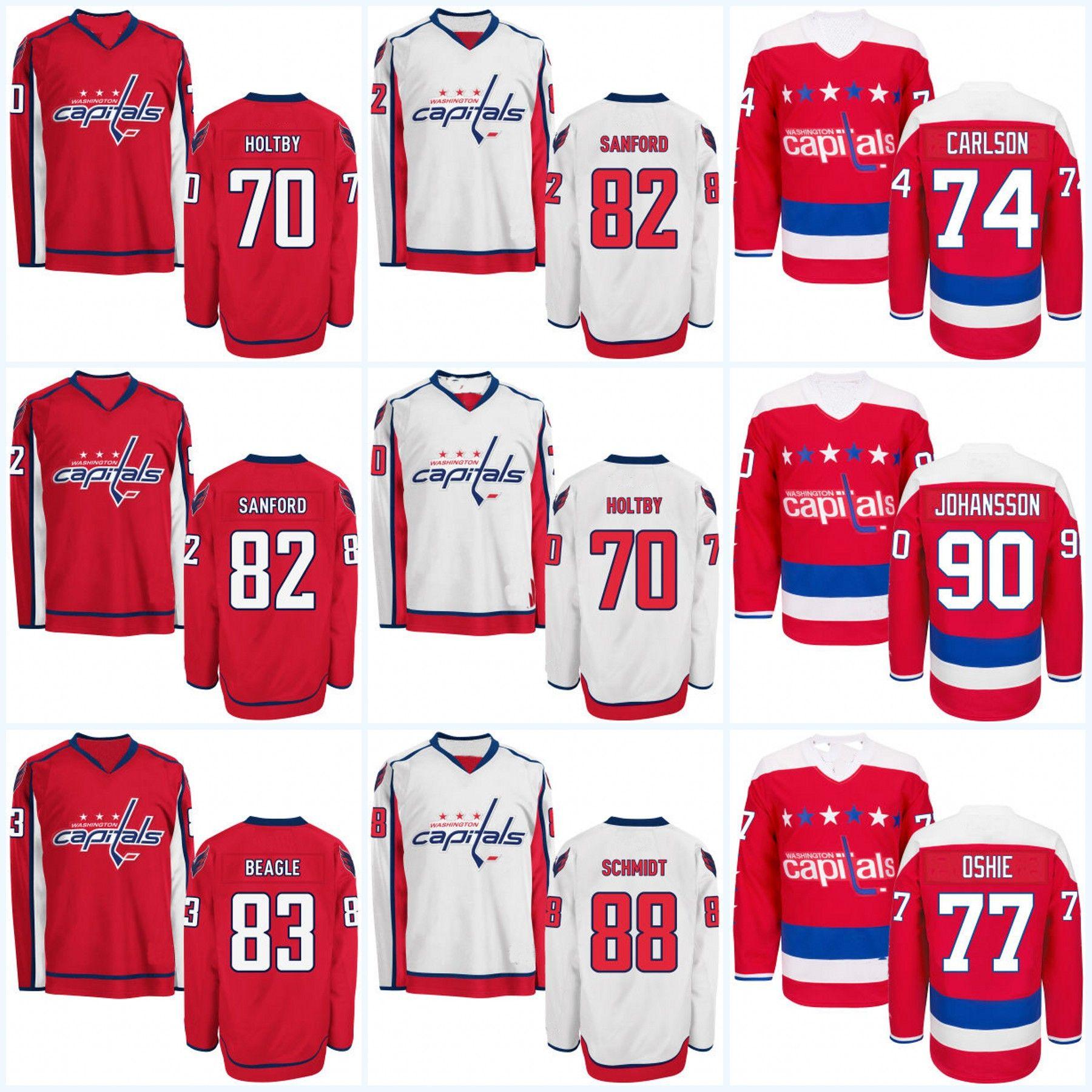 buy popular 82044 f6f1d Washington Capitals Jerseys Womens 70 Braden Holtby 74 John Carlson 83 Jay  Beagle 90 Marcus Johansson 88 Nate Schmidt Hockey Jerseys