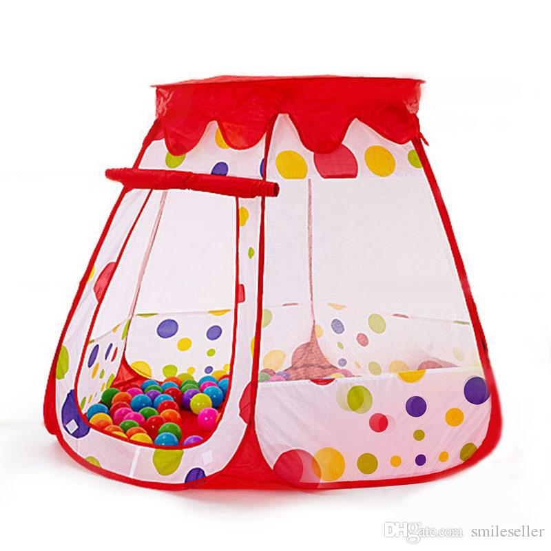 Kids Foldable Play Tent Girls Princess Castle Boys Play House ...