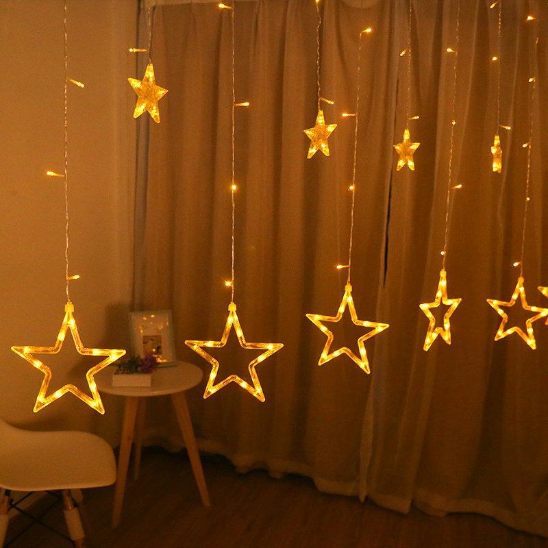 Wholesale Stars Led String Curtain Lights Christmas Garland Light ...