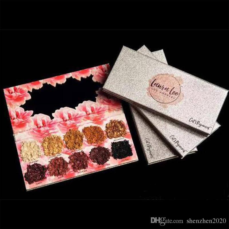 Makeup Eye shadow Laura Lee Los Angeles Cat's Pigment Eyeshadow Palette Shimmer Eyes DHL shipping