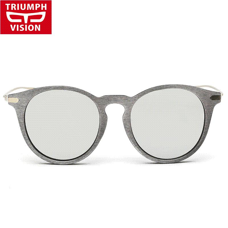 c6c7d7470ce TRIUMPH VISION Wood Sunglasses For Men Women Mirror Round Vintage ...