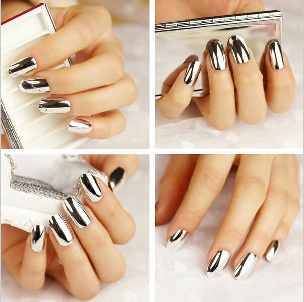 New Fashion Foil Set Nail Art Sticker Silver Nail Decal For Women