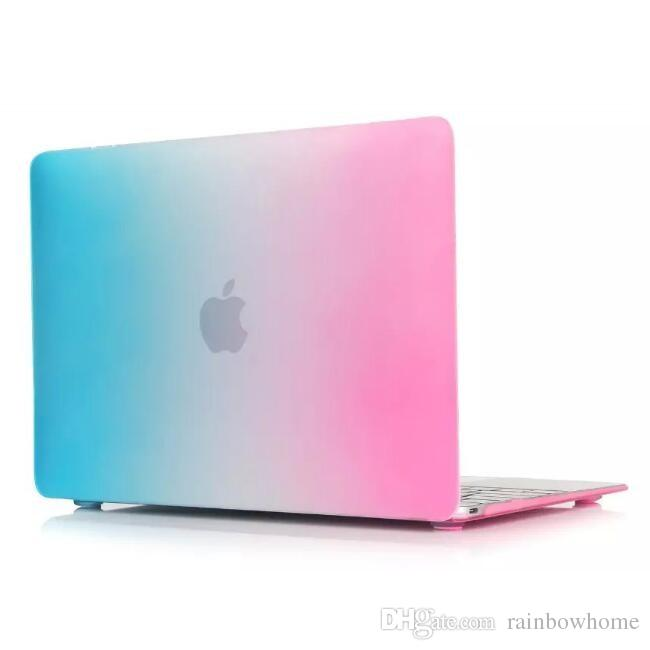 5f965785aaccc Compre Dazzle Cor Matte Hard Rubberized Case Capa Protector Para Macbook  Air Pro Com Retina 12 13 15 Polegadas Laptop Crystal Colorido Rainbow Shell  De ...