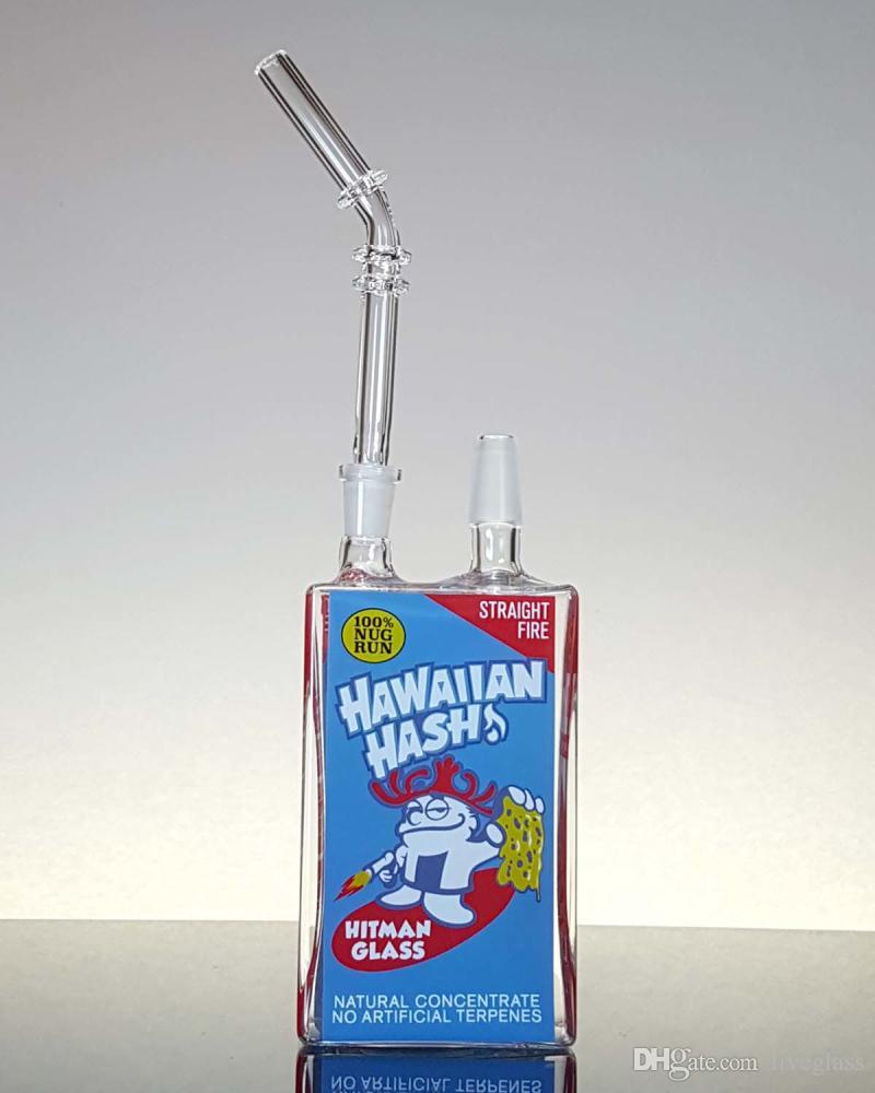 Аксессуары для курения напиток бутылка изображение стеклянная труба стеклянные бонги циклон простой дизайн встроенный рог с женщиной присоединиться Бесплатная доставка