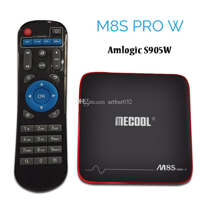 Amlogic S905W Android 7.1 TV BOX 2GB 16GB MECOOL M8S PRO W Streaming Box Support 4K H.265 HDMI Wifi OTA Update Smart Media Player