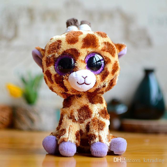 Big eyes plush Toys multi styles simulation animal Stuffed Animals super soft 6inch 15cm children gifts Soft Dolls for Kids 60wt