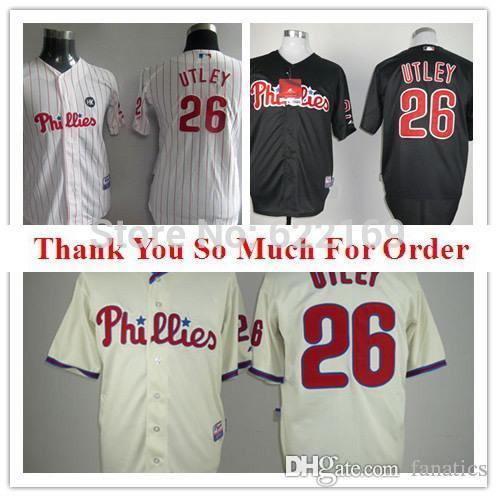 ... 2017 2015 New 26 Chase Utley Jersey Philadelphia Phillies Throwback Jerseys  Cool Base Mens Baseball Home ... e4e2a727f