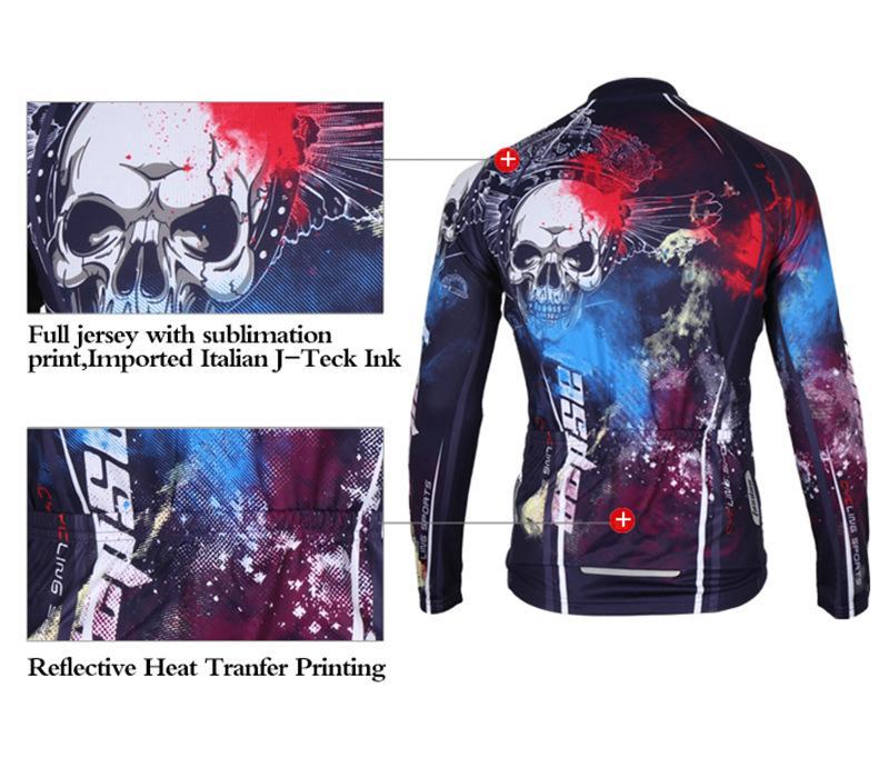 Tasdan Sportswear Abbigliamento da ciclismo da uomo Manica lunga Mountain Bike Jersey Abbigliamento Moda Strada Cycling Jersey Abbigliamento Uomo