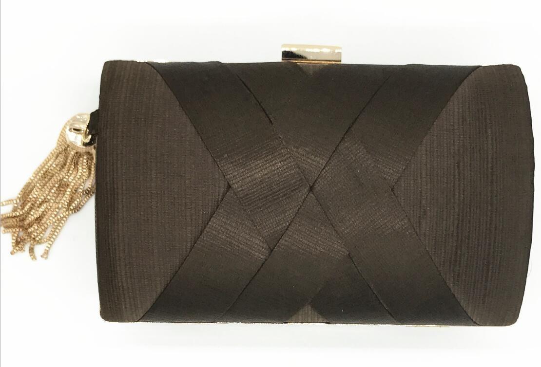 caja del teléfono monedero borlas de seda de alta calidad de boda nupcial de la cadena del bolso del maquillaje de fiesta de la boda bolsa de asas de baile del monedero del embrague de tarde del bolso