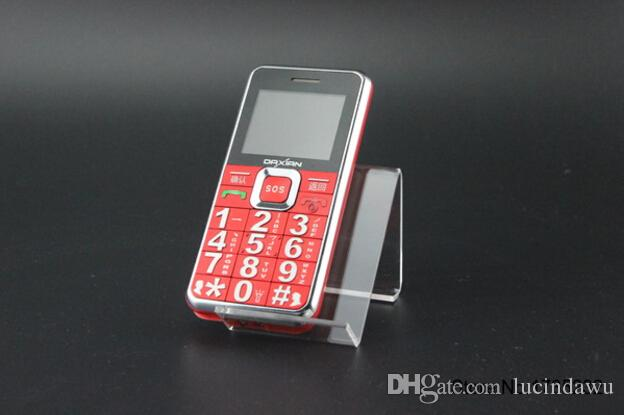 20 adet Akrilik telefon ekran tutucu şeffaf çakmak ekran standı MP3 tutucu vitrin braketi