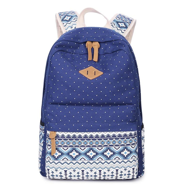d36d849331692 Satın Al Kore Tuval Baskı Sırt Çantası Kadın Okul Çantaları Genç Kızlar  Için Sevimli Okul Çantalarını Bağbozumu Dizüstü Sırt Çantaları Kadın Ulusal  Sırt ...