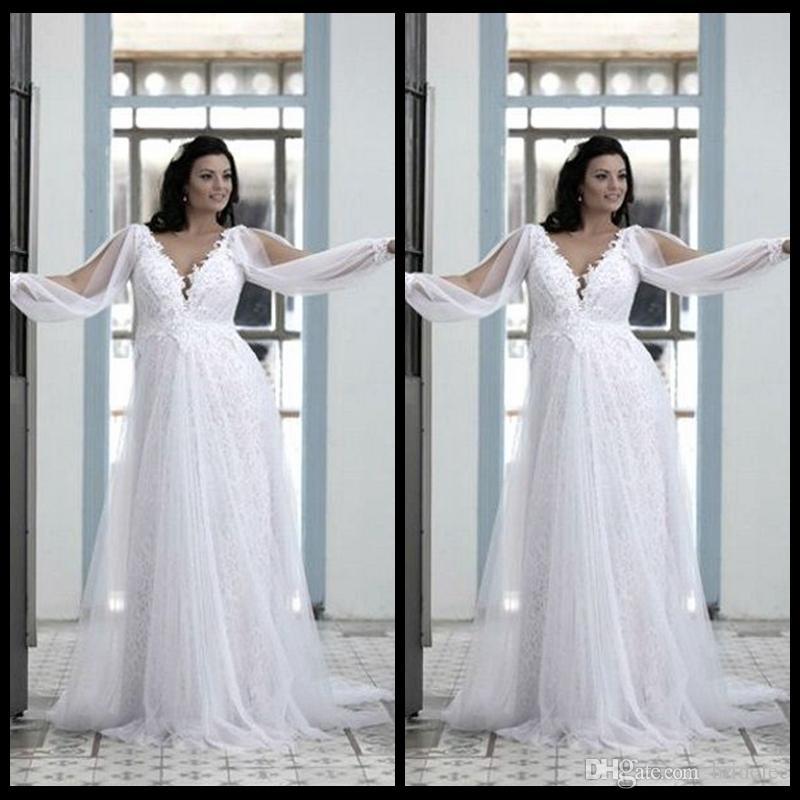 compre vestidos de boda hermosos del tamaño extra grande 2016 ivory