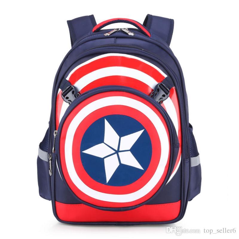 Kids Backpack Backpacks School Bags Schoolbag Captain America