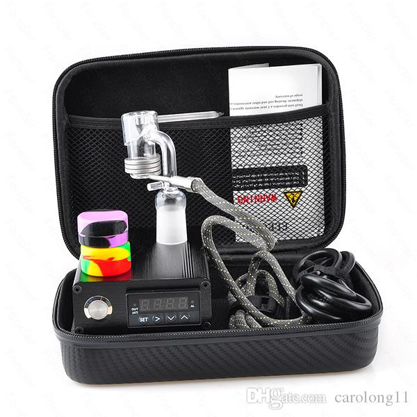 Quartz E Dab Nail Box Kit Electic 14 18 MM Female Male Quartz Nail Electric Dab Nail Complete Kit Temperature Controller 100w Dabber Tools