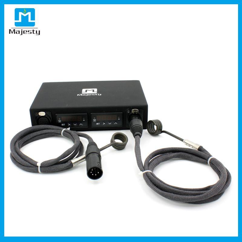 EUA ENAIL ENAIL Nova Chegada Dual Enail Box Kit Controlador de Temperatura Dnail Caixa Dnail com aquecedores de bobina DHL frete grátis ..