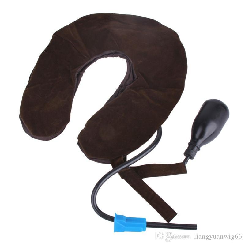 Alta calidad Air cervical tracción del cuello dispositivo de refuerzo suave Head Back hombro dolor de cuello cuidado de la salud