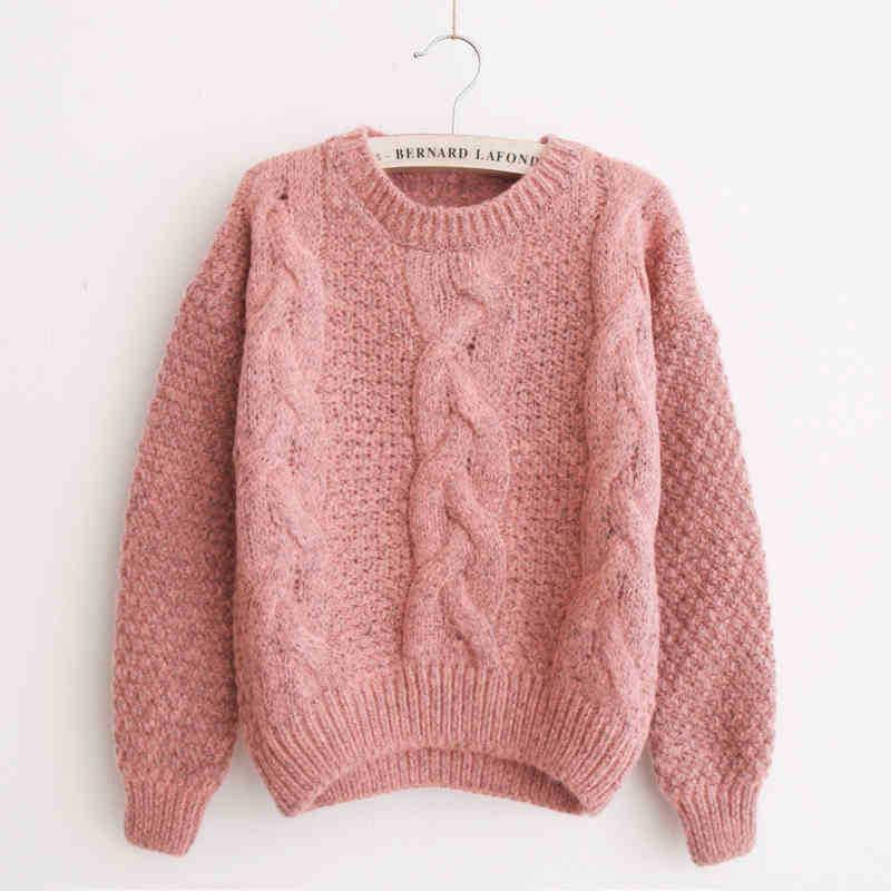 2018 2016 Sweater Top Korean Kawaii Pink Pullover Sweter Mujer ...