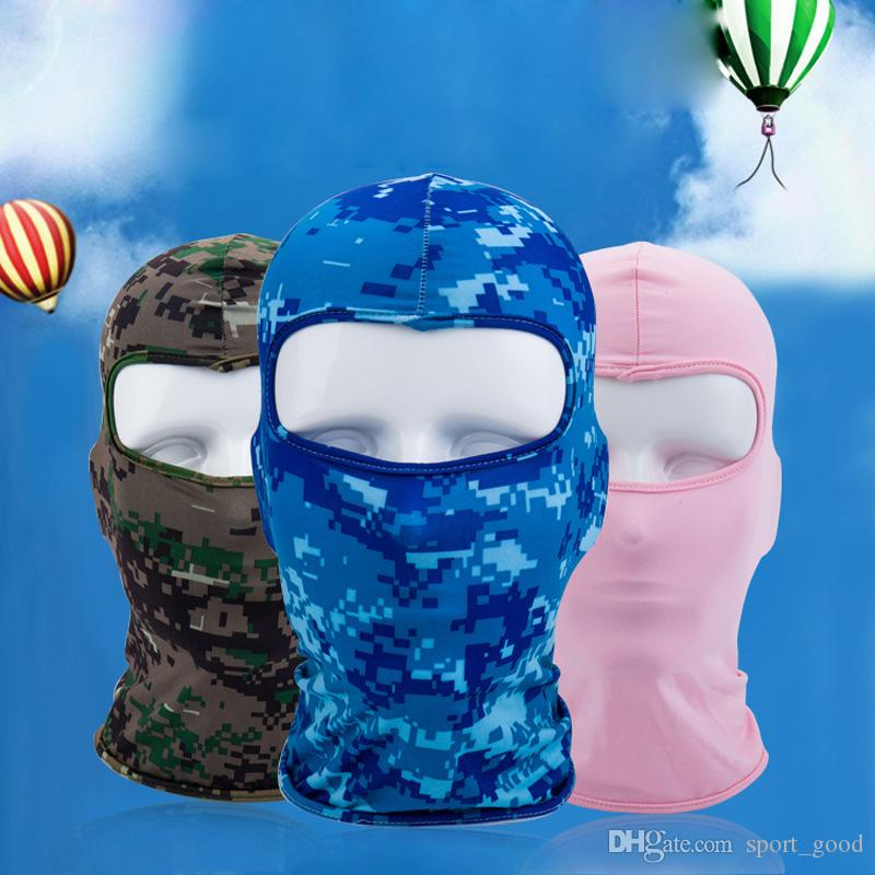 Lycra soft equipment outdoor riding motorcycle bicycle windproof sunscreen dust-proof CS mask tactical thin breathable hood masks for sale