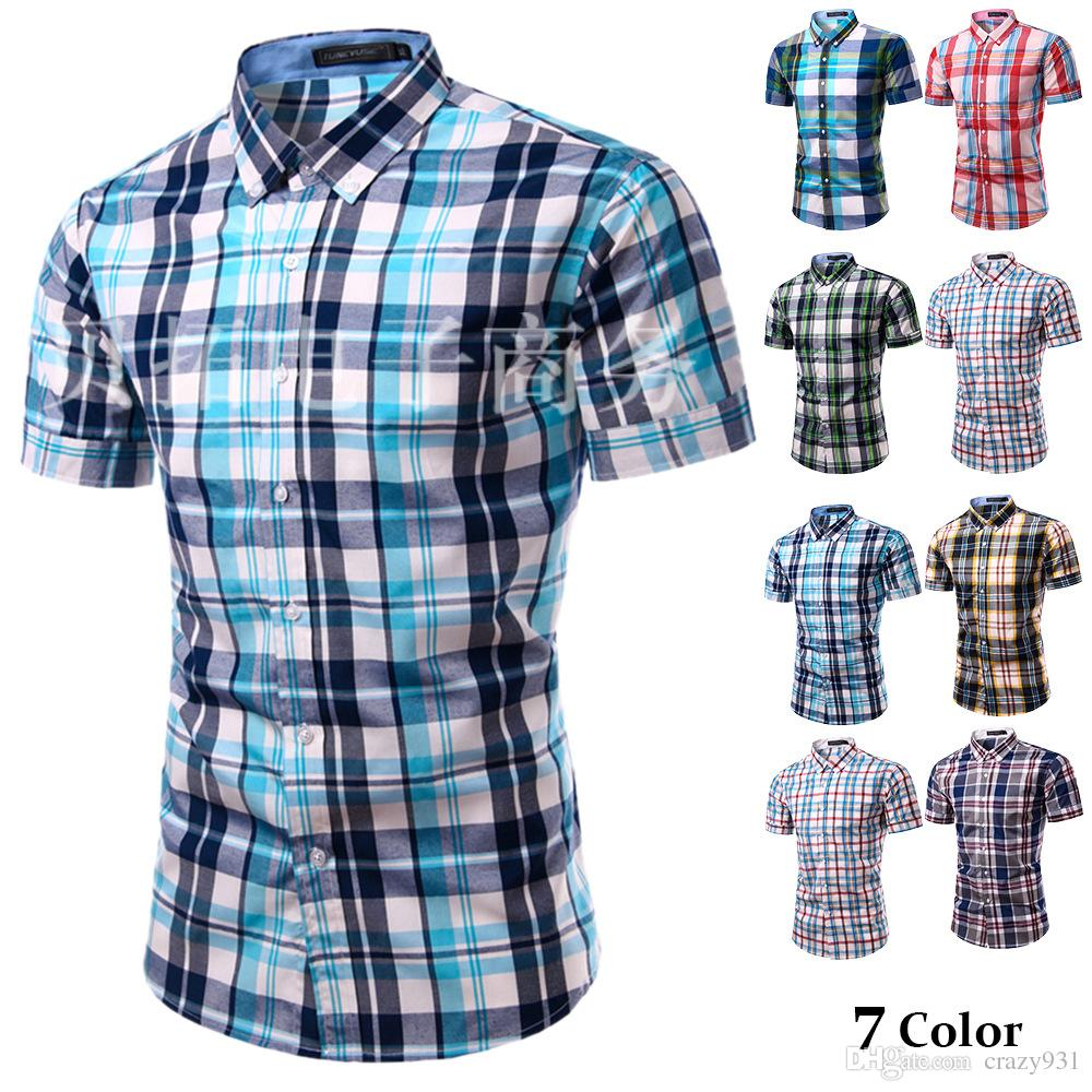 Short sleeve casual shirts for men custom shirt for Mens short sleve dress shirts