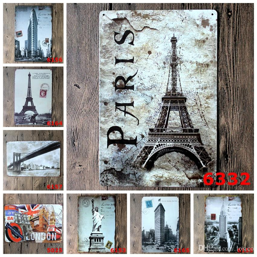 Random delivery bundled sale 30X20 CM Tin signs movie poster Art House Cafe Bar Vintage Metal Painting wall stickers home decor