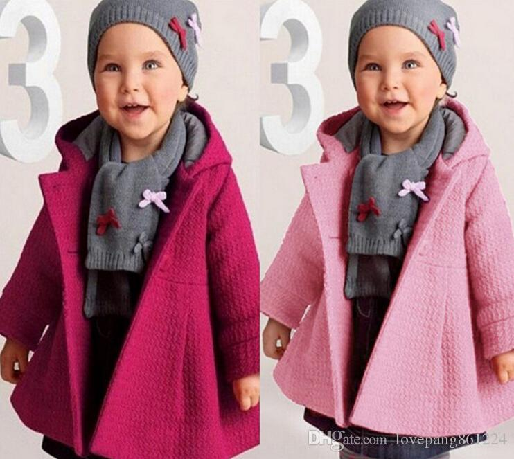 2016 Bb Autumn & Winter Fashion Coats 80 90 100cm Girls Hooded ...