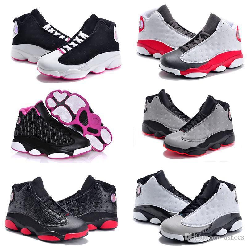 7357e1514ebe Satın Al Online Satış Ucuz Yeni 13 Çocuklar Erkek Kız Için Ayakkabı  Basketbol Sneakers Çocuk Babys 13 S Koşu Ayakkabısı Boyutu 11c 3y