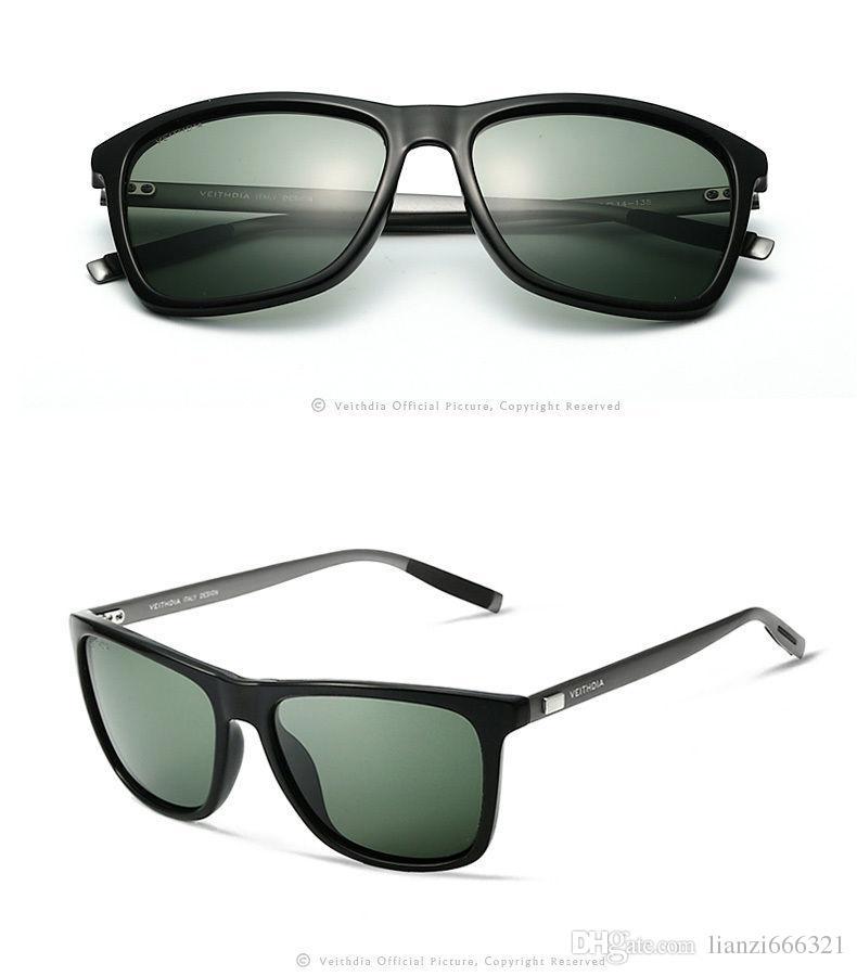 멋져 !! 핫 브랜드 새로운 알루미늄 편광 된 선글라스 패션 복고풍 미러 된 차양을 운전하는 패션 남자 선글라스 HJ0015