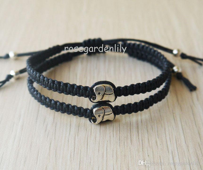 638a8a48bf65 New Cute Elephant Charm Couples Bracelets