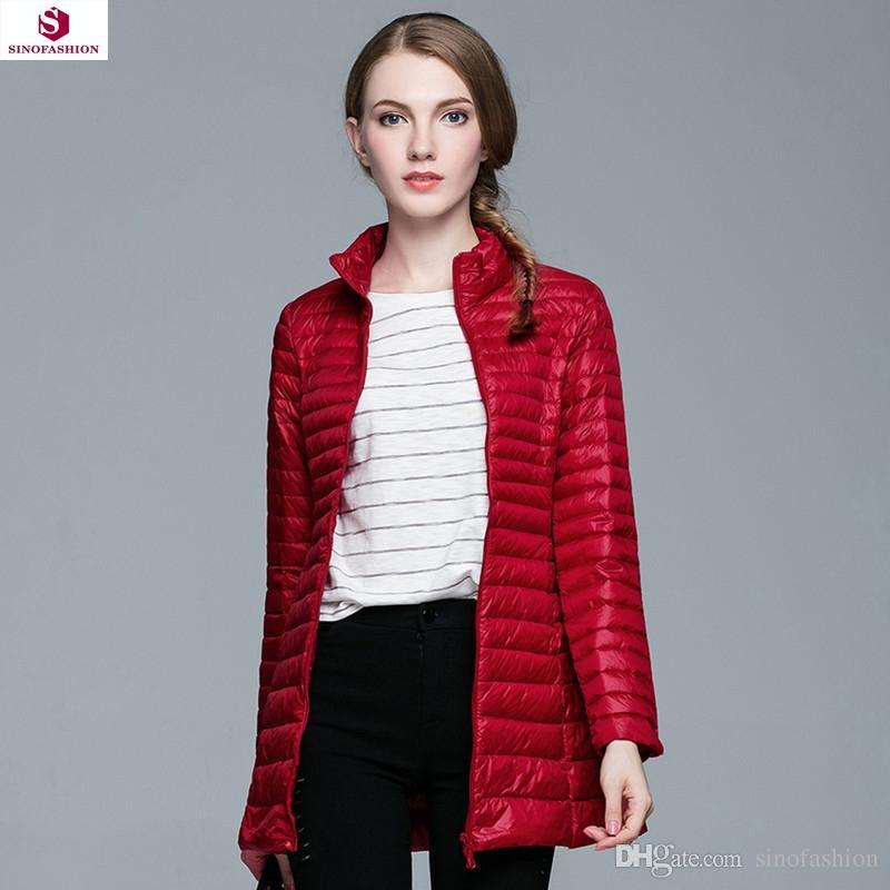 2018 2016 Winter Duck Down Jacket Women Coats Parka Ultra Light ...