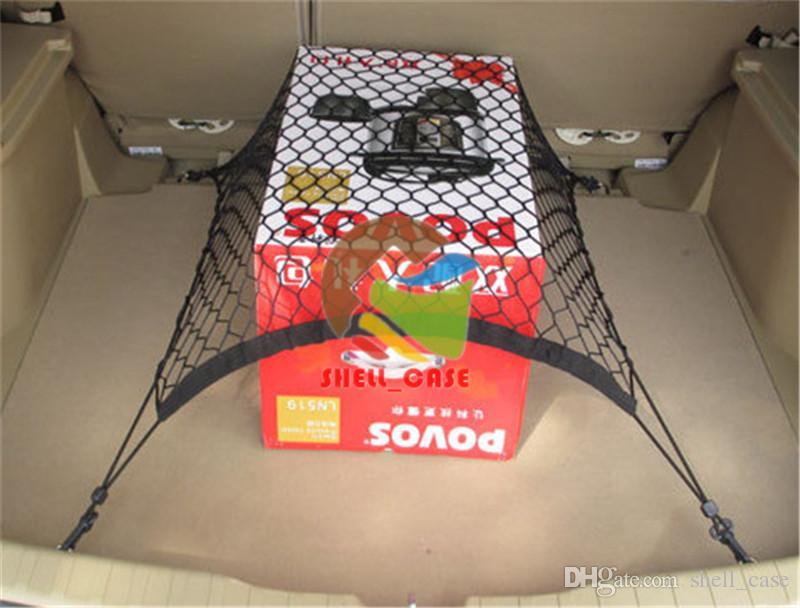 70 * 70cm 4 Haken Car Trunk Cargo Net für alle Autos AUDI s3 q5 r8 a9 Volkswagen BUICK Storage net Buggy Tasche für Auto Boot Einsatz
