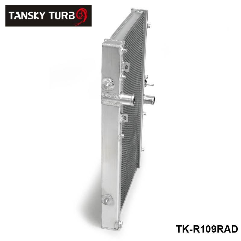 Tansky-for Mitsubishi Lancer Evo 7 8 9 42mm 2 Rail Radiateur en alliage d'aluminium 01-07 mt tk-r109rad