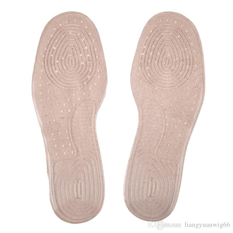 Silicone Breathable Sweat Absorption Shoes Insert Pads Running Sports Anti Shock Shoes Insole Cushion Pads