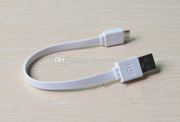 Micro USB 20 cm / 0.6ft Curto Noodle USB cabo de carregamento Sem Linha de Cabo de Sincronização de Dados Para S3 S4 i9300 Banco de potência