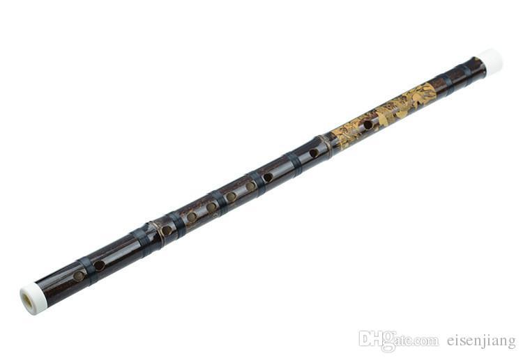 New Chinese Flute Xiao Bamboo Pipe Instrument de musique professionnel à vent Bambu Une flûte de dragon sculptée Shichiku cravate ligne de nylon